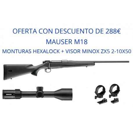 OFERTA Rifle Mauser M18 / monturas y visor