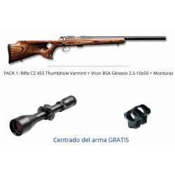 Pack 17 HMR Rifle Ceska CZ 455 Thumbhole Varmint  + Visor