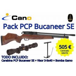 Carabina PCP  Buccaner SE + Visor + Bomba carga