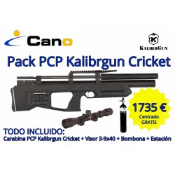 Carabina PCP Kalibrgun Multi-Shot Cricket Standard + Visor + Carga