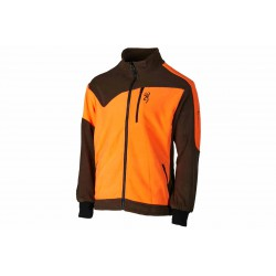 Polar Browning Powerfleece One Zippin verde naranja