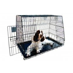 Jaula plegable perros adaptable maletero
