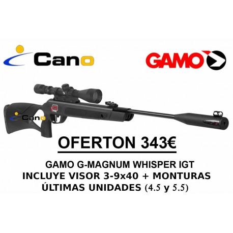 Pack Oferta - Carabina Gamo Gmagnum Whisper IGT Match1  + Visor