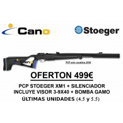 PACK OFERTA - Carabina Stoeger XM1 con silenciador + visor + bomba