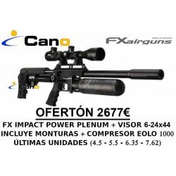PACK OFERTA - Carabina PCP FX Impact MK2 Power Plenum + Visor + Compresor
