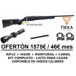 PACK OFERTA - Rifle Tikka T3X Lite + Monturas + Visor