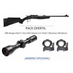 PACK OFERTA - Rifle Monotiro Bergara Ba13 TakeDown Synthetic + Visor