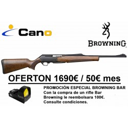 PACK OFERTA - Rifle Browning Bar Mk3 Hunter Fluted + Punto rojo Roolls