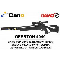 Carabina PCP Gamo Coyote Black Whisper + Visor + Bomba carga