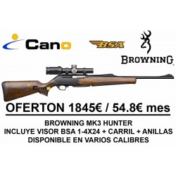 PACK OFERTA - Rifle Browning Bar Mk3 Hunter + Visor