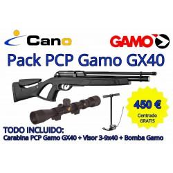 PACK OFERTA - Carabina PCP Gamo Gx40 + Visor + Bomba carga