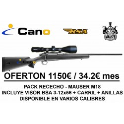 PACK OFERTA RECECHO - Rifle Mauser M18 + Visor BSA