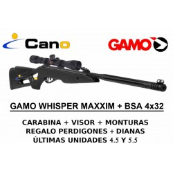 PACK OFERTA - Carabina Gamo Whisper Maxxim + Visor